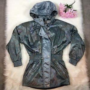Vtg Obermeyer Ski Jacket Penelope Hooded Metallic